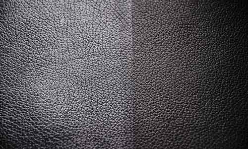 Before and after leather cleaning