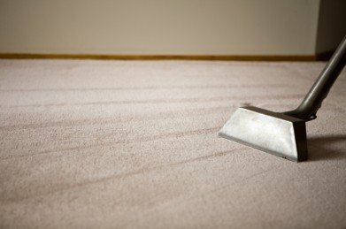 Deep Steam Cleaning on beige carpets