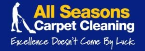 Blue logo for all seasons carpet cleaning