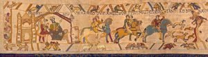 Beige background with acts depictions from the Norman conquest - Who Who Carpet Cleaning and Pest Management