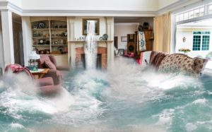 Entire living room flooded with dramatic amount of water. used for Who Who water damage restoration