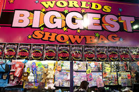 World's Biggest Showbag on bright pink board - Ekka - Who Who Carpet Cleaning and Pest management