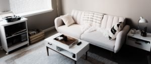 white two seater couch in modern room - Who Who Carpet Cleaning and Pest Management