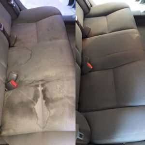 Car Upholstery before and after professional cleaning