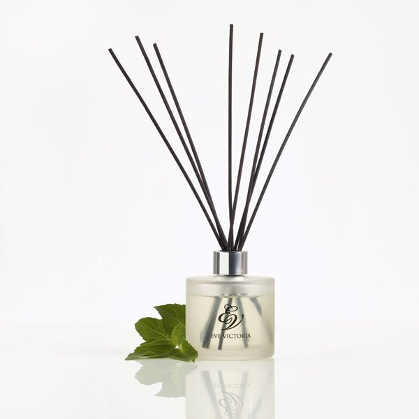 Diffuser with glass bottle and mint
