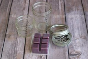 Mason Jar and laundry deodorizing cubes