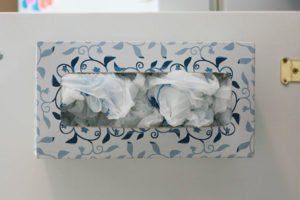 Old Tissue Box filled with Plastic Bags