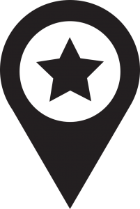 Location Sign in Black