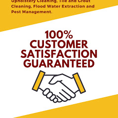 Poster highlighting Who Who Carpet Cleaning and Pest Management's services