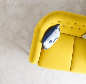 Yellow couch - upholstery shot from top - WHo WHo Upholstery Cleaning Brisbane