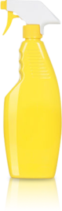 Yellow and white spritzer bottle, who who carpet cleaning blog